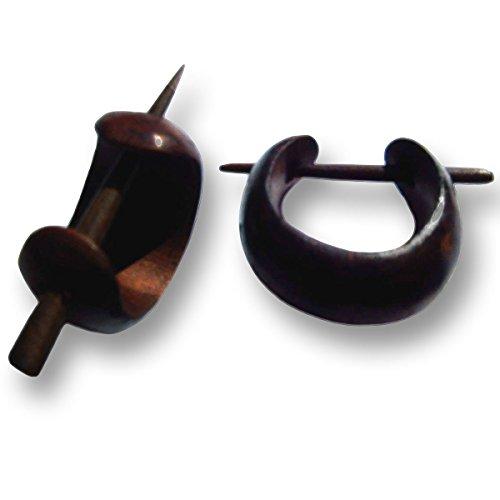 Pendientes Criollos en pequeñas ISLAND PIERCINGS Piercing de diseño hecho a mano de madera ER018