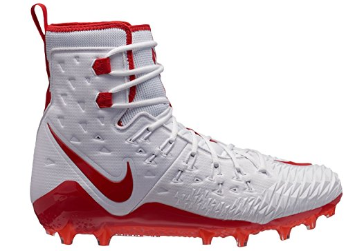 Nike Men's Force Savage Elite TD Football Cleats (13, White/Red)