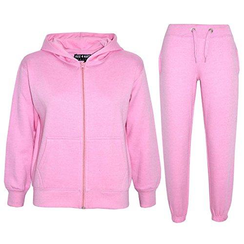 a2z4kids A2Z 4 Kids® Kinder Mädchen Jungen Plain Farbe Trainingsanzug Kapuzenpullover - Baby Rosa, 11-12 Jahre