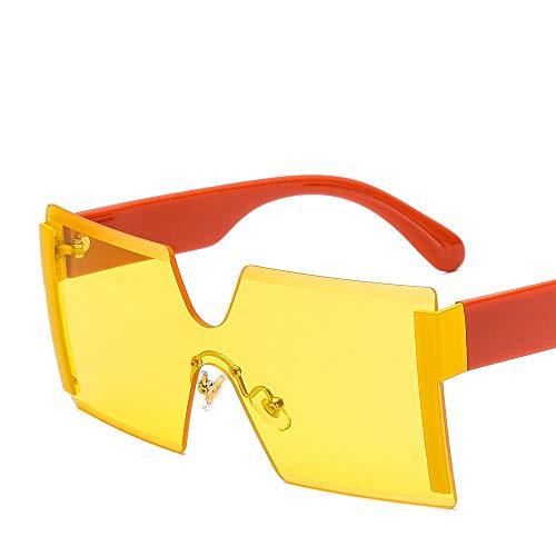 Gafas de Sol graduadas sin Montura Hombres Mujeres Gafas de una Pieza Gafas de conducción Masculinas Gafas de Sol Gafas