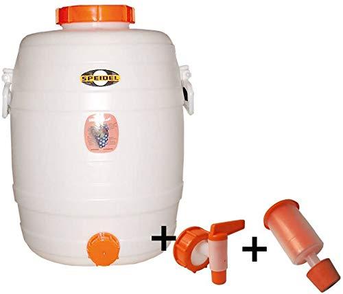 Speidel Contenedor de Bebidas Cubeta fermentador Redondos 30 L + 1 airlock + 1 Grifo...