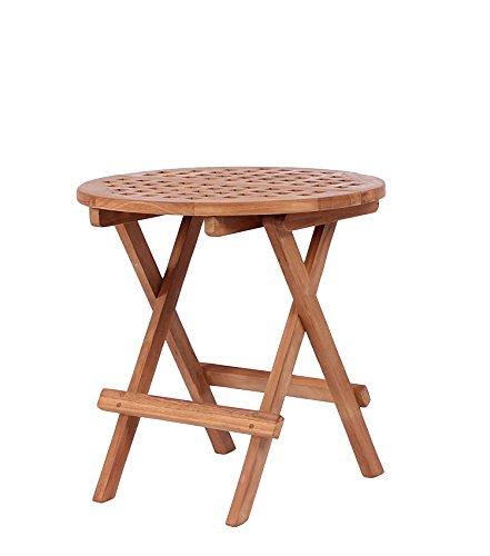 Mr. Deko Teak Beistelltisch Dorset - Teak - Tisch - Gartentisch - Outdoormöbel - Teakholz - für Balkon, Terrasse, Wintergarten, Garten