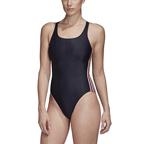 adidas Fit Suit 3s C Badeanzug für Damen 44 Blau/Rot (Tinley/Rosglo)