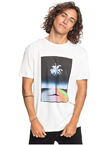 Quiksilver Mistery Light - T-Shirt - T-Shirt - Männer - L - Weiss