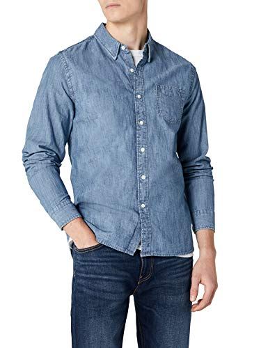 Levi's Sunset 1 Pocket Shirt Camisa Vaquera, Azul (Chambray Indigo 0345), Large para Hombre