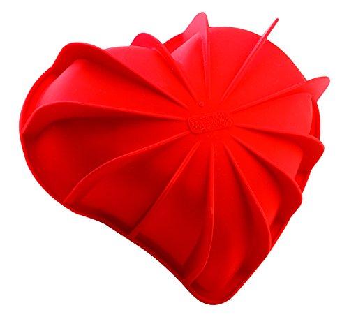 Silikomart SFT 211 - Molde, Diseño de Corazón, color rojo, 205 x 186 h 54mm
