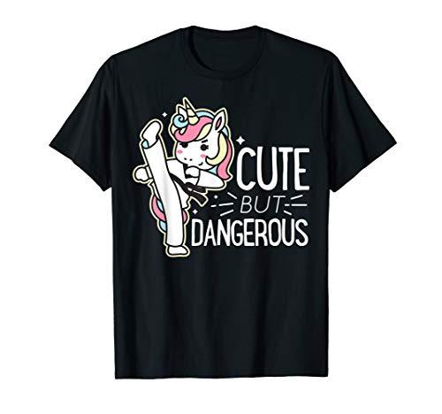 Cute Gefährliche Karate Taekwondo Shirt Mädchen Jungen Funny Geschenke