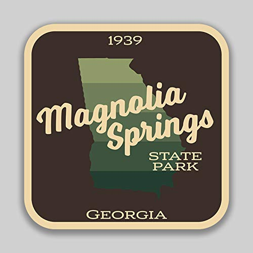JMM Industries Magnolia Springs State Park GeorgiaVinilo adhesivo adhesivo para ventana de coche, paquete de 2 unidades de 4 pulgadas por 4 pulgadas laminado protector UV de calidad premium SPS00925