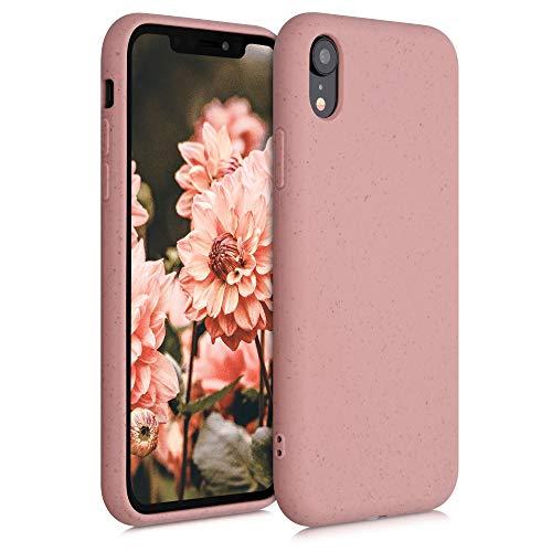 kalibri Funda Compatible con Apple iPhone XR Carcasa Hecha de TPU y Trigo Natural ecológico - Rosa Viejo