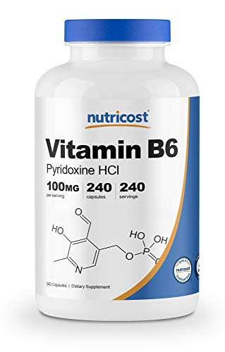 Nutricost Vitamin B6 (Pyridoxine HCl) 100mg, 240 Capsules
