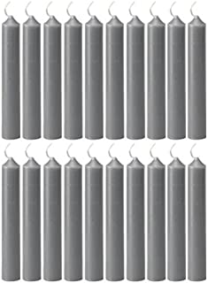 Biedermann & Sons 20 Count Chime Candles, Gray