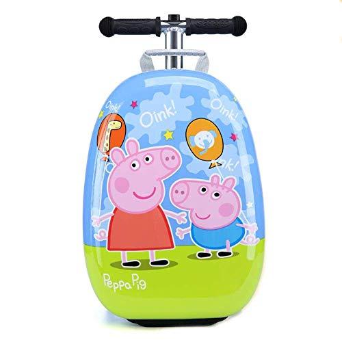 GEZHU Kind-Roller Koffer kleines Geschenk Nett Carry on Trolley Gepäcktasche for Kid Koffer auf Räder Rollen-Gepäck, Seite Lustiges Spielzeug für Kinder. (Color : Page)