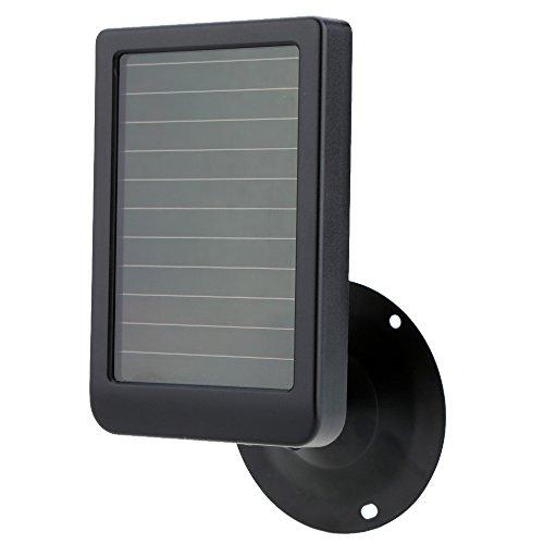 SUNTEKCAM Wildkamera Ersatz Solarpanel mit USB Ladekabel, Fallschutz 9V 2400mAh wiederaufladbare interne Lithiumbatterien Kompatibel mit Jagdkamera Ersatzteil, langlebiges Batteriezubehör