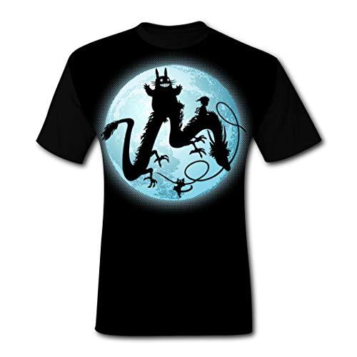 Moon Spirits 大人の若者のためのメンズ半袖3DプリントラウンドネックTシャツポリエステルファニーシャツティートップ