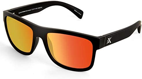 Extremus Kennesaw Polarized Sport Sunglasses for Men and Women Matte Black Frame Copper Base product image