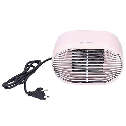 Riscaldatore personale, mini stufetta, bagno da ufficio portatile grandangolare elettrico da 800 W per la casa(Pink)
