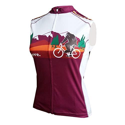 Peak 1 Sports Bigfoot Women's Sleeveless Cycling Jersey L - Women's Purple