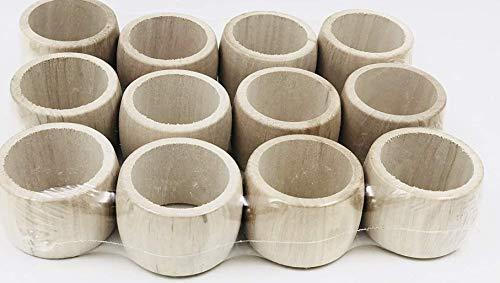 MGI DEVELOPMENT - Juego de 12 servilleteros de madera...