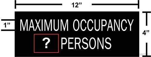 Maximum Detroit Mall Occupancy Rapid rise Sign Black Number Customize