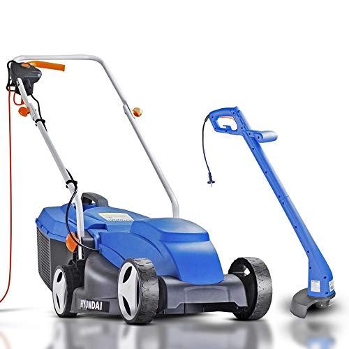 Hyundai HYM3200E + HYTR250E Electric Lawn Mower & Strimmer Corded 10 Metres...
