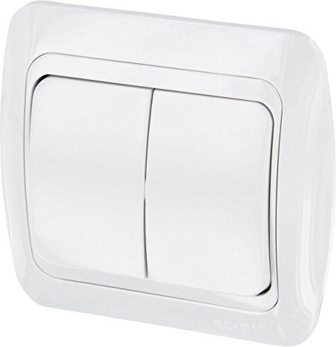 UP Serienwechselschalter - All-in-One - Rahmen + Unterputz-Einsatz + Abdeckung (Serie T1 alpinweiß)