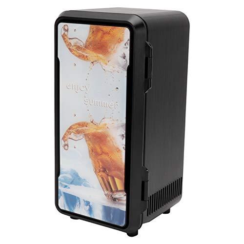 Refrigerador, Refrigerador de enfriamiento USB de funcionamiento silencioso, Refrigeración compacta Calefacción de doble propósito para oficina o dormitorio Hogar Bebidas(Standard black 18w)