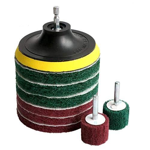 LiuliuBull Brocha de perforación Cepillo de azulejo Scrubber Scouring Pads Kit de Limpieza (Color : 4 Inch)
