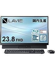 NEC 液晶一体型 デスクトップパソコン LAVIE Direct DA(S) 国内生産 (23.8インチ FHD/Core i5/8GB メモリ/256GB SSD+1TB HDD/ブルーレイ/地デジ/ブラック)(Office Home & Business 2019)(Windows 10 Home) WEB限定モデル【Windows 11 無料アップグレード対応】