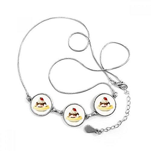 DIYthinker aardbei banaan zoete ijs ronde vorm hanger ketting sieraden met ketting decoratie cadeau