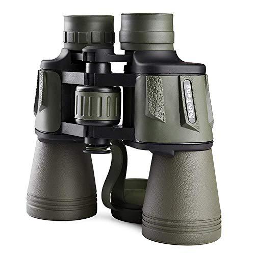 SHHYD 20X50 Binoculares Prismáticos Portátil HD Vision Nocturna Telescopio con Lente Totalmente Recubierta para Conciertos de Turismo al Aire Libre