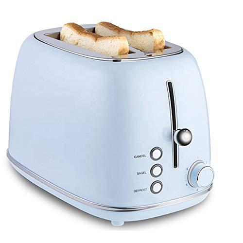 PLEASUR Tostadora de Pan Prestige para Hornear para el hogar, tostadora Larga de 2 rebanadas, Azul