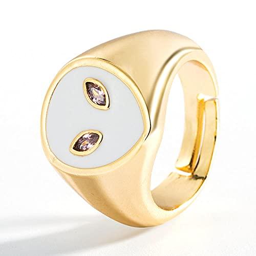 Vintage males ojos ojos retro ojos azules anillos anillos de esmalte y2k anillos oro anillos de apertura afortunado anillo de dedo afortunado apilado anillo-B