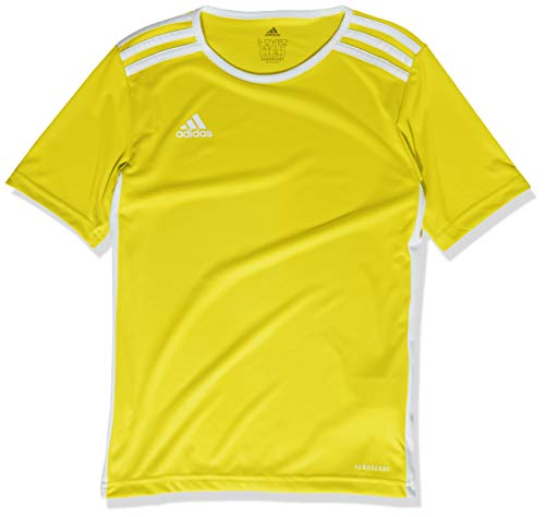 adidas mens Youth Entrada 18 Jersey Yellow/White Youth Large