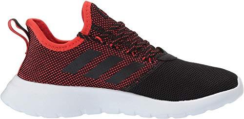 adidas Men's Lite Racer Reborn Running Shoe, Black/Black/Active red, 13 M US