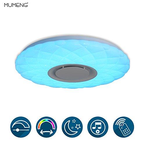 Plafón Luz Lámpara de Techo de Música con Altavoz Bluetooth (Starlight)