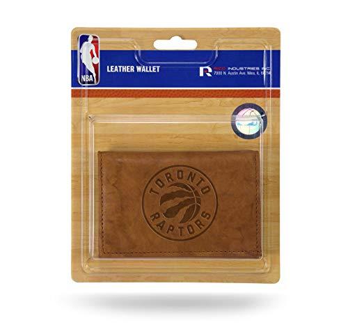 Rico Hombres de la NBA Toronto Raptors Trifold–Cartera de Piel con, marrón, 5Pulgadas x 3Pulgadas
