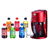 Party Snow Cone Maker Frozen Ice Shaver in Classic Red Design with 6