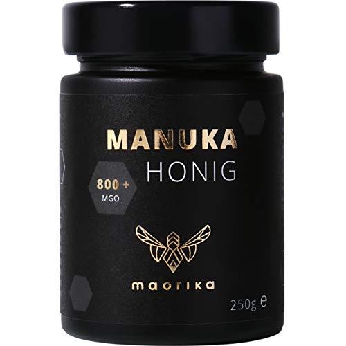 maorika - Manuka Honig 800 MGO + 250g im Glas (lichtundurchlässig, kein Plastik) - laborgeprüft, zertifiziert aus Neuseeland