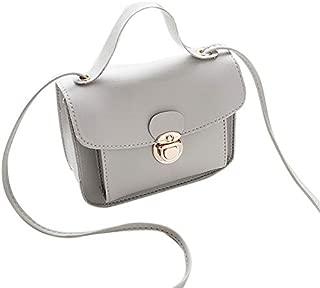 RONSHIN Women Casual Fashion Solid Color Single Shoulder Bag Sweet Style Mini Square Bag