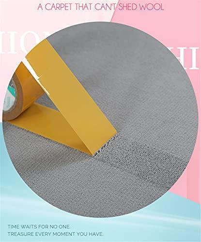 DUBENS Felpudo redondo antideslizante absorbente, alfombra de yoga, alfombra para entrada, dormitorio, salón, sofá, decoración del hogar (rojo, 100 cm redondo)