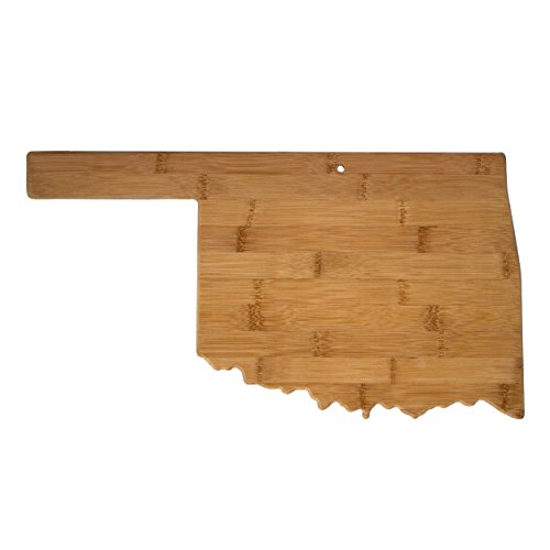 Totally Bamboo Oklahoma State Shaped Serving & Cutting Board, Natural Bamboo