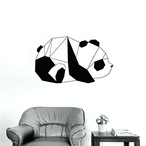 WERWN Geometrische Panda Wandtattoo Schlafzimmer Kinderzimmer Innenarchitektur Büro Moderne Kunst Wandbild Vinyl Wandaufkleber