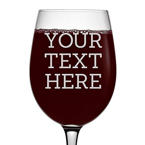 Personalized Etched Custom Message 16oz Stemmed Wine Glass