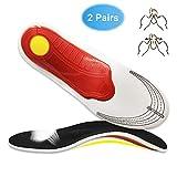 XGXD 2 Pares Plantillas para Zapatos de Gel Amortiguadoras, Plantillas para Deportivas de Silicona para Hombre y Mujer, para Fascitis Plantar,Tamaño Cortable,S