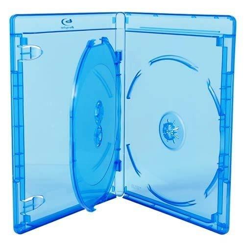 Amaray - Estuche para 3 discos Blu-ray (21 mm, en embalaje de Dragon Trading)