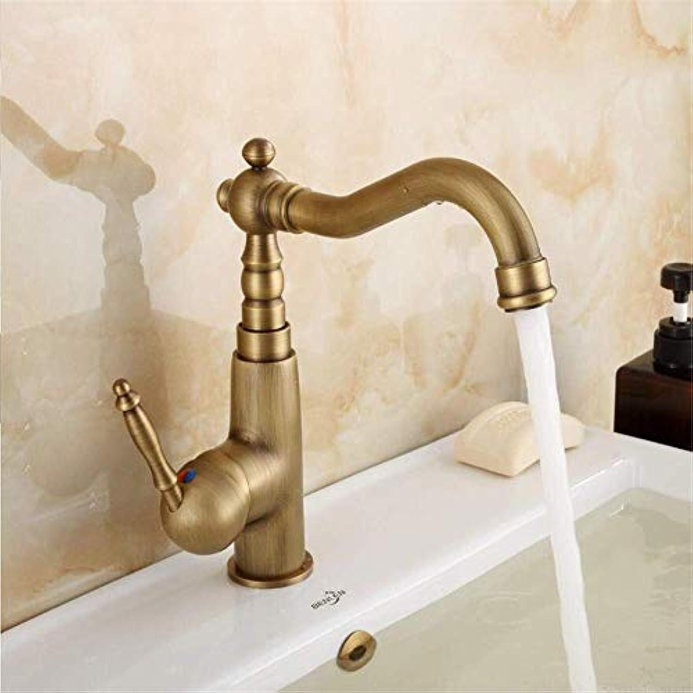 360 ° drehbarer Wasserhahn Retro Wasserhahn Mischbatterie Europischen Stil Kupfer antiken Wasserhahn