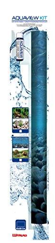 WAVE Double Vision Décor de Fond avec Aquaview Gel pour Aquariophilie 45 x 90 cm