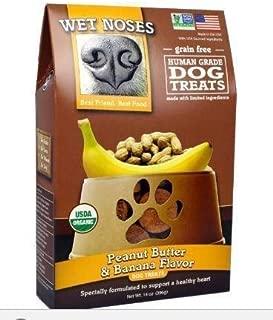 Wet Noses Grain Free Organic USA Made All Natural Dog Treats, Peanut Butter and Banana (Grain-Free) 14 oz