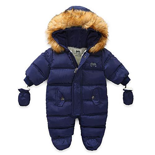 Xifamniy Baby Winter Snowsuit Coat Romper Outwear Hooded Footie Toddler