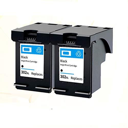 LIUYB 302XL Cartucho for HP 302 XL Hp302 HP302XL Cartuchos de Tinta for Deskjet 2130 1112 3630 1110 4520 4250 3830 5220 5230 5232 Impresora (Color : 2 Pack Black)